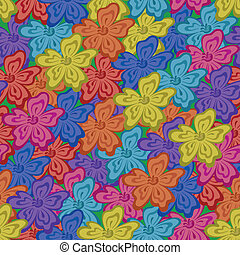Seamless floral background - Abstract floral background,...