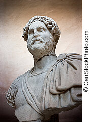 Ancient sculpture of a Roman - Ancient sculpture of the man...