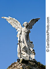 Avenger angel - Statue of an angel made of stone from a...