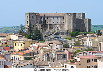 Panoramic view of Melfi. Basilicata. Italy.