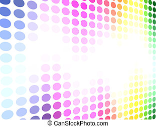 Spectrum colored circle pattern vector background.