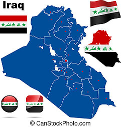 Iraq  vector set.