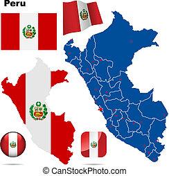 Peru vector set.