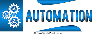 Automation Blue Banner - Banner Image with Automation text...