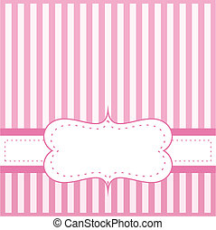 Pink vector card invitation for baby shower, wedding or...