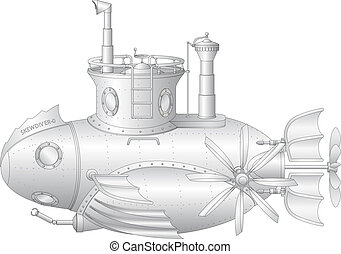 Skew diver - Steam-punk submarine