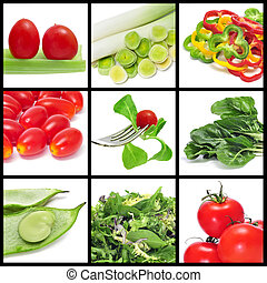 vegetables collage