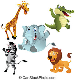 African animals - A vector illustration of Africans animals...