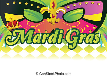 Mardi gras background - A vector illustration of mardi gras...