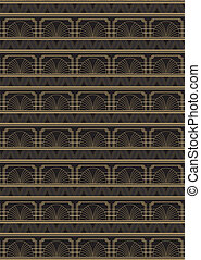 Seamless Art Deco Style Pattern - An Art Deco style...