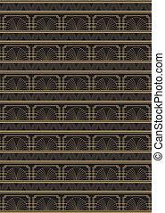 Seamless Art Deco Style Pattern - An Art Deco style...