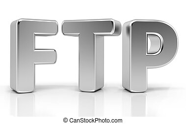 Ftp Sign File Transfer Protocol 3d concept
