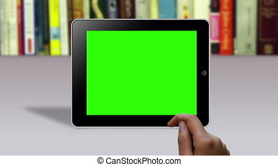 Hand Gestures on a Green Screen - A person does several Hand...