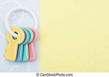 Baby Toy - Baby facecloth with toy keys  baby toy