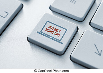 Internet marketing button concept - Internet marketing...