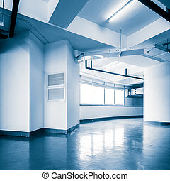 empty office in the modern office building