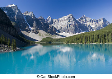 Banff National Park - Lake Moraine in Banff National Park...