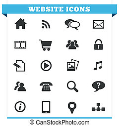 Website Icons Vector Set - Vector set of website and...