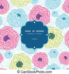 Lovely flowers frame seamless pattern background - Vector...