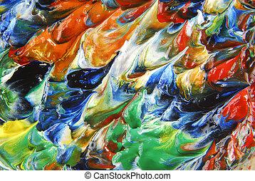 abstratos, óleo, quadro