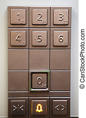 Elevator Keypad - The numeric key pad inside an elevator