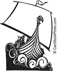 Viking Longship Sailing B