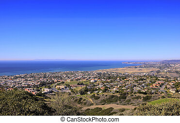 San Clemente Hills looking towards Dana Point with Catalina...