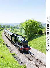 steam train, Gloucestershire Warwickshire Railway,...