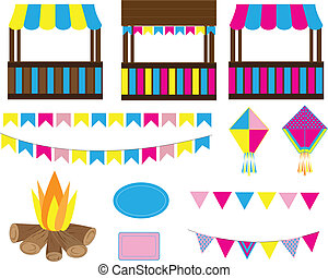 Party elements - Decorative party elements