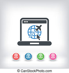 Air company website icon - Illustration of air company...