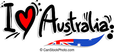 I love Australia - Creative design of I love australia