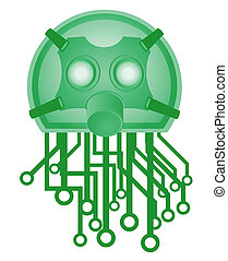 Green tech mask - Creative design of green tech mask