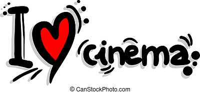 I love cinema - Creative design of I love cinema