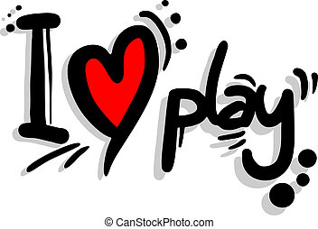 I love play - Creative design of I love play