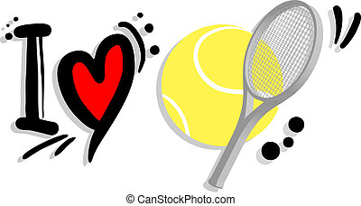 I love tennis - Creative design of I love tennis
