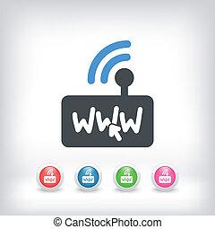 Internet modem icon - Illustration of internet modem icon