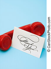 Thank you Call - Telephone with thank you card with copy...
