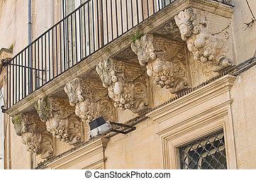 Persone Palace. Lecce. Puglia. Italy.
