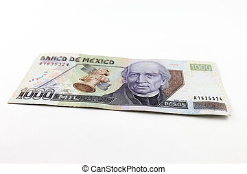 Mexican Pesos - An image showing the new and rare 1000 peso...