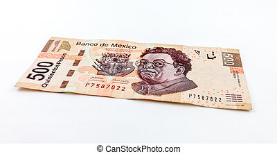 Five Hundred Pesos - A stock photo of a new Five hundred...