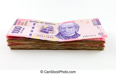 Mexican Peso Bills - An image showing the new 1000 peso...