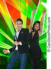 Paar, afrikanisch, junger, tanzen