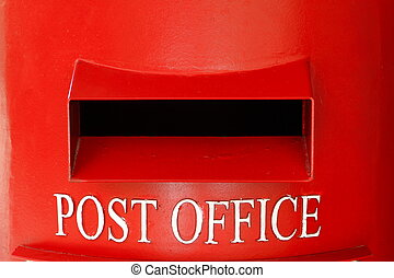 Close of post box - Close of red post box