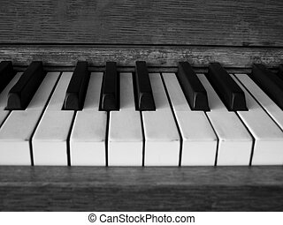 Antique Piano - The ivory and ebony keys of an antique piano...
