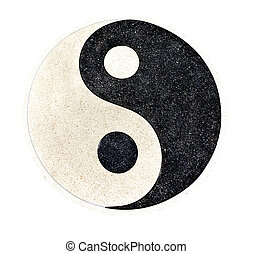 "Yin Yang - ""Yin Yang"" stone decorative on the floor with..."
