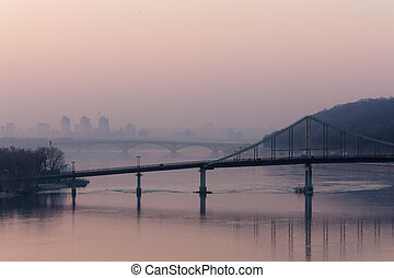 bridges across the Dnieper