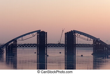 bridge across the Dnieper
