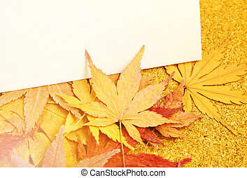 Greeting card with maple
