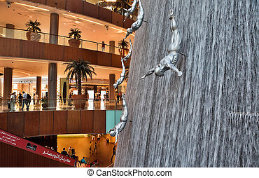 DUBAI, UAE - OCTOBER 23: Interior View of Dubai Mall -...