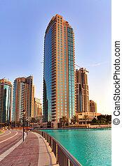 dubaï, UAE, -, outubro, 23:, modernos,...
